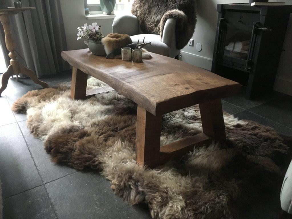 Massief eiken salontafel 'de boswachter'